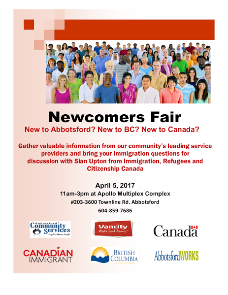Newcomer's Event Flyer
